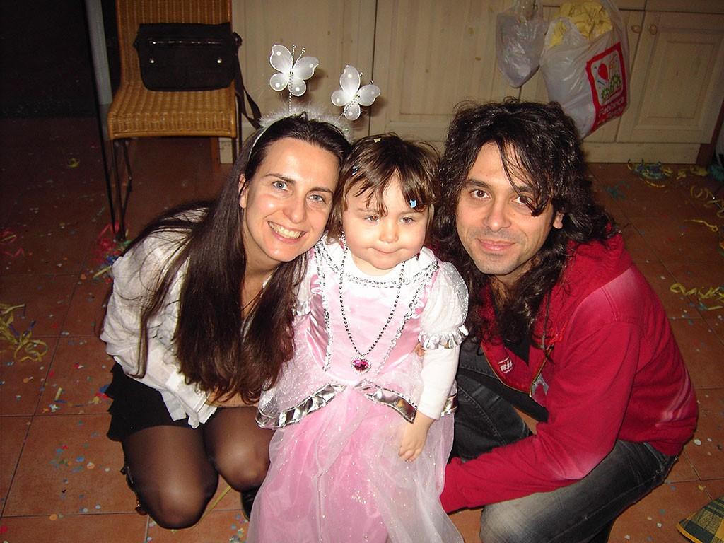 Anita con mamma e papà