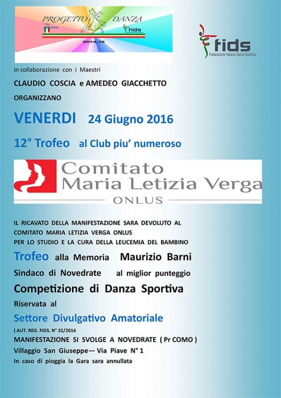 Volantino Originale Gara di Ballo Lato  1  26-06-2015