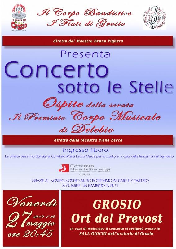 locandina Concerto sotto le stelle a Grosio