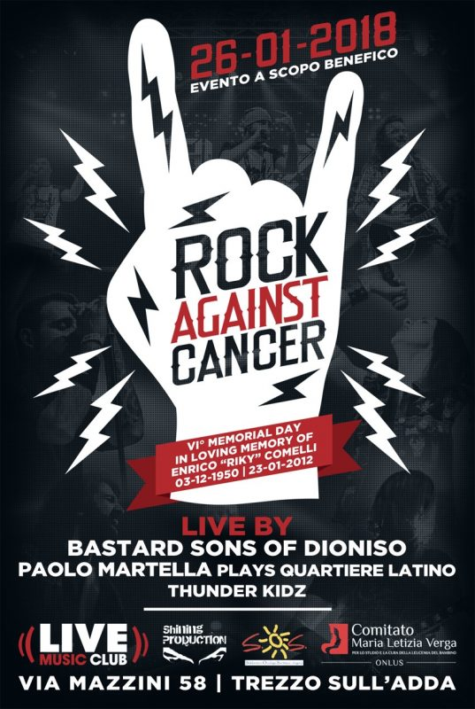 Rock against Cancer - la sesta edizione al Live Club di Trezzo sull'Adda @ Live Music Club | Lombardia | Italia